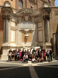 2013 Course Photo at the Musei Capitolini with Museum Security Instructor  - Photo by Mink Boyce