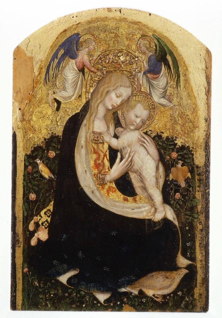 Antonio-Pisano-detto-Pisanello-Madonna-col-bambino-detta-Madonna-della-quaglia-tempera-su-tavola-cm-54x32