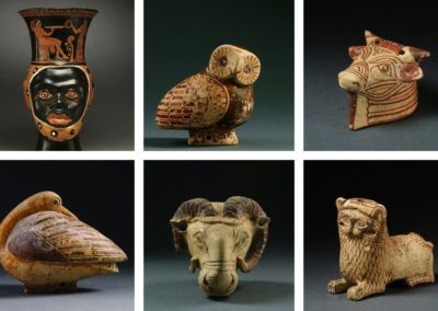 Antiquities seized in 2018 by New York authorities linked to archives of antiquities dealers connected to illicit trafficking offenses.