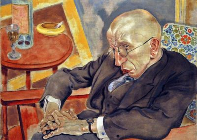 """The Poet Max Herrmann-Neisse,"" a painting by George Grosz, one of several paintings the Museum of Modern Art acquired which has a questionable Holocaust-era past."