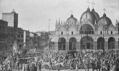 Napoleon sacking Venice